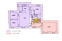 plan de l'étage avec gite du haut'